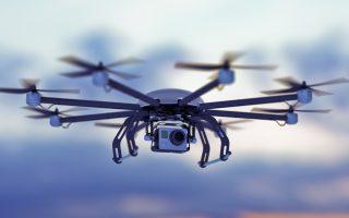 Drone filmando